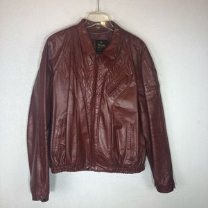 VTG Rossano Collection Leather Motorcycle Jacket